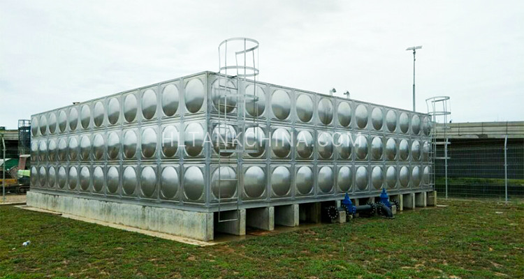 Large stainless steel water tank
