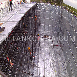 hot dip galvanized water tank